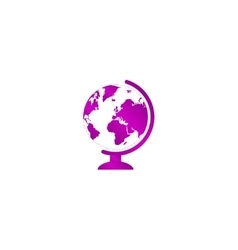 geography school earth globe web icon vector image vector image
