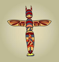 indianbirdtotem vector image