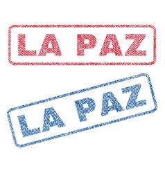 La paz textile stamps vector