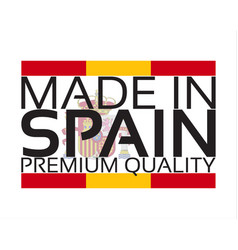 made in spain icon premium quality sticker with vector image vector image
