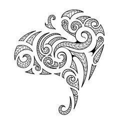 maori style tribal art tattoo vector image vector image