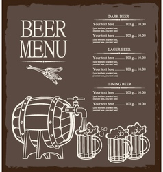 Menu for beer vector image vector image
