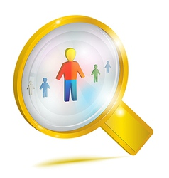 Personnel management concept icon vector image vector image