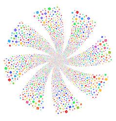 Problem fireworks swirl flower vector