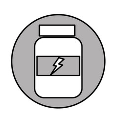 Protein bottle isolated icon vector