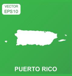 puerto rico map icon business concept puerto rico vector image