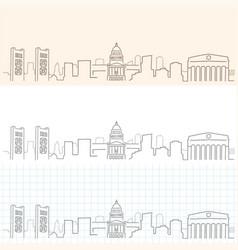 Sacramento hand drawn skyline vector