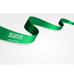 Saudi Arabian flag background vector image