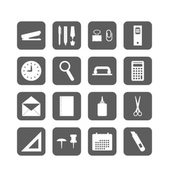 set of office stationery icons vector image