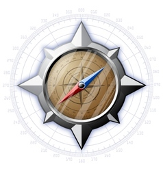 Steel compass with scale vector image vector image