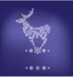 stylized silhouette of stanging deer formed by vector image vector image