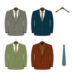 suit coats vector image