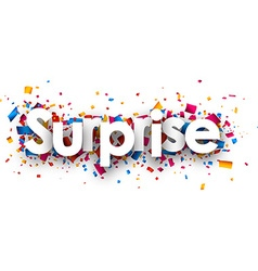 Surprise sign vector