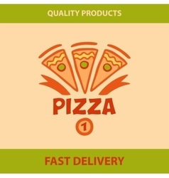 Template logo pizza pizzeria vector image vector image