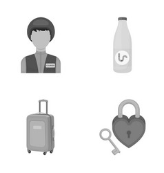 Travel tourism profession and other web icon in vector