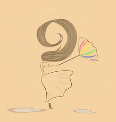 umbrellagirl vector image