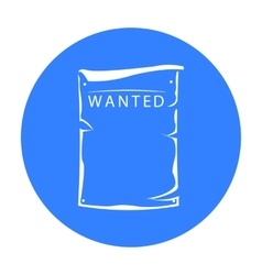 Wanted icon black singe western icon from the vector