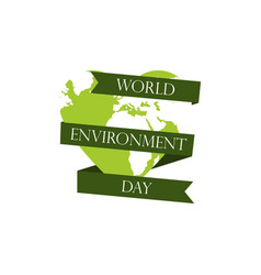 world environment day 5th june planet earth with vector image