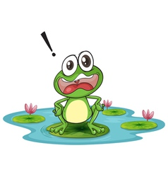 Worried Cartoon Frog vector image vector image
