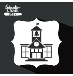 School building inside frame design vector