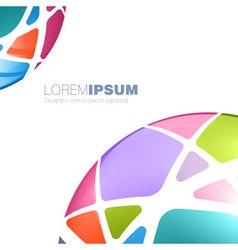 Multi colored sphere template vector image