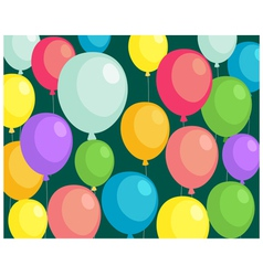 Background balloons vector