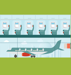 Aeroplane at the airport vector