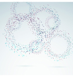 Bright colorful particle circle background vector