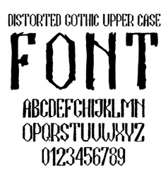 Handwritten black distorted gothic upper case vector