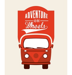 Adventure on wheels vector