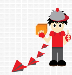Postman wallpaper vector
