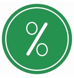 Percent icon vector