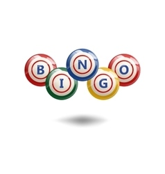 Flying Bingo Balls vector image