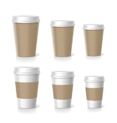Coffee cups set isolated vector