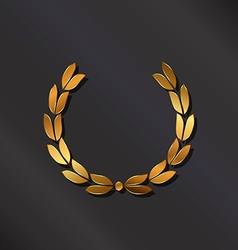 Golden laurel logo vector image