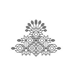 Totem decorative line art element geometric style vector