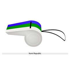 A Beautiful Whistle of The Komi Republic vector image vector image