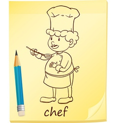 A notepad with a chef vector