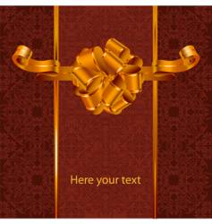 background composition with golden bow vector image vector image