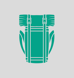 camping backpack icon vector image vector image
