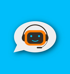Chatbot concept icon vector