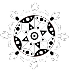 circular pattern in Indian style vector image