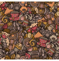 Coffee doodle seamless pattern vector