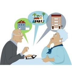 Considering senior housing options vector image