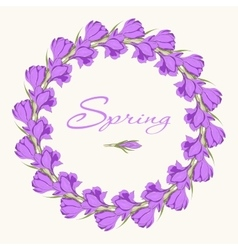 Crocus wreath 1 vector