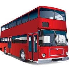 double-decker bus vector image vector image