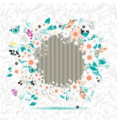 Floral frame insert your photo here vector image vector image