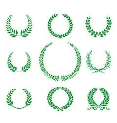 GreenLaurel Wreaths Collection vector image vector image