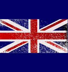 Grunge british flag vector
