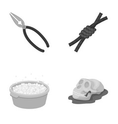 History cleaning and other monochrome icon in vector